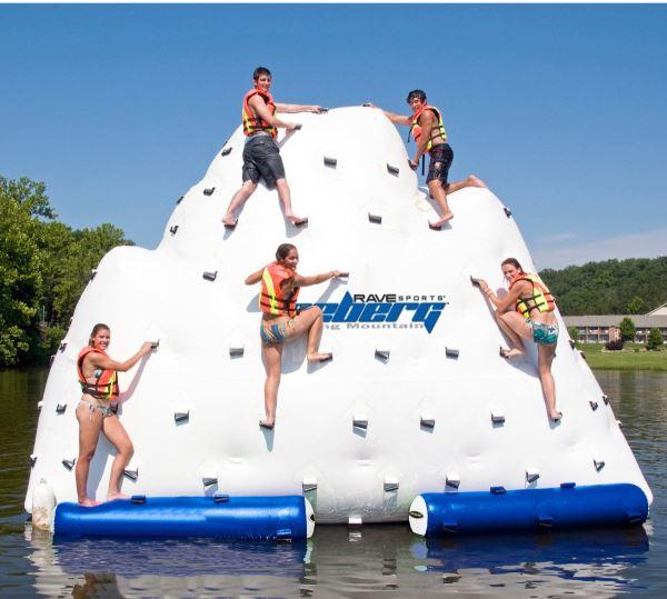 Rave Iceberg Inflatable Climbing Mountain Houseboat Magazine
