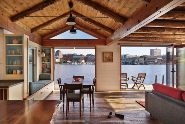 old cabin designs old houseboat meets rustic cabin seattle style houseboat magazine
