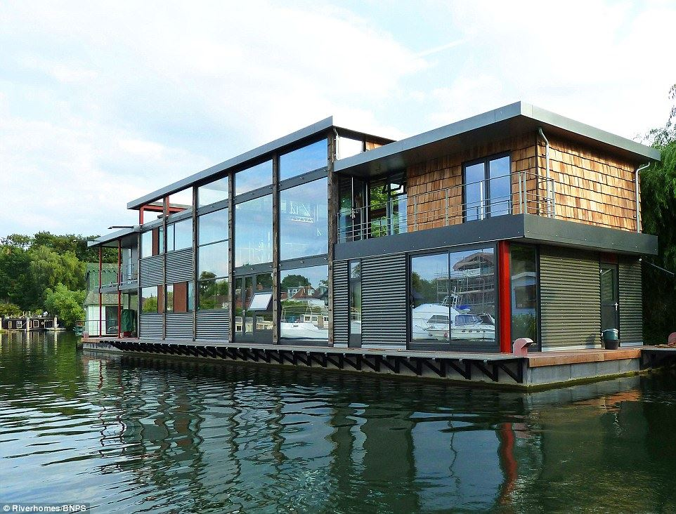 stunning houseboat at a playground for the rich and famous